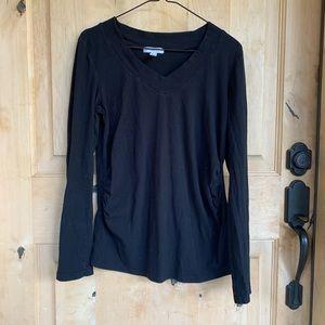 Ambiance Maternity Long Sleeve T-Shirt- Large